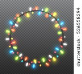 circle colorful garlands ... | Shutterstock .eps vector #526558294