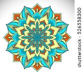 vector indian mandala | Shutterstock .eps vector #526558300