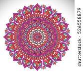 vector indian mandala | Shutterstock .eps vector #526558879