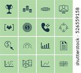 set of 16 universal editable... | Shutterstock .eps vector #526559158