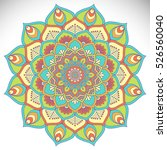 vector indian mandala | Shutterstock .eps vector #526560040