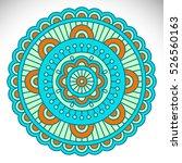 vector indian mandala | Shutterstock .eps vector #526560163