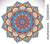 vector indian mandala | Shutterstock .eps vector #526560244