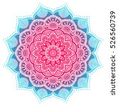 vector indian mandala | Shutterstock .eps vector #526560739
