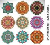 vector indian mandala | Shutterstock .eps vector #526560853