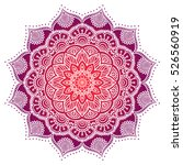 vector indian mandala | Shutterstock .eps vector #526560919