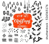 collection of rough hand drawn... | Shutterstock .eps vector #526565176