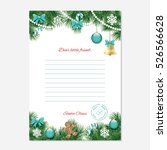 christmas letter from santa... | Shutterstock .eps vector #526566628