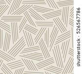 vector seamless linear pattern. ... | Shutterstock .eps vector #526567786
