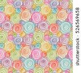Vector Seamless Doodle Swirl...
