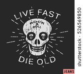 t shirt print design. rock and... | Shutterstock .eps vector #526569850