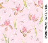 Floral Seamless Pattern Of...