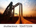 oil pipeline  the oil industry... | Shutterstock . vector #526572106