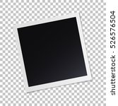 photo frame with shadow on... | Shutterstock .eps vector #526576504