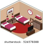 bedroom design with furniture... | Shutterstock .eps vector #526578388