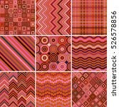 set of abstract background  9... | Shutterstock . vector #526578856