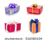 set of colorful gift boxes with ... | Shutterstock . vector #526580104