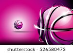 3d abstract logo of basketball... | Shutterstock .eps vector #526580473
