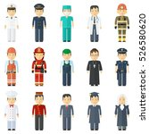 man profession full length with ... | Shutterstock .eps vector #526580620