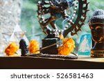 aroma therapy stick burning  | Shutterstock . vector #526581463