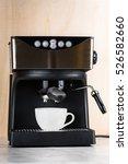prepare a cup of coffee in a... | Shutterstock . vector #526582660