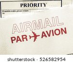 Small photo of Vintage looking Airmail picture
