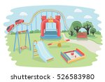vector cartoon illustration of... | Shutterstock .eps vector #526583980
