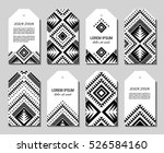 monochrome aztec style... | Shutterstock .eps vector #526584160