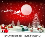 smiling snowman and santa... | Shutterstock .eps vector #526590040