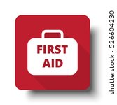 flat first aid kit web icon on... | Shutterstock . vector #526604230
