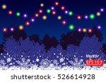 night christmas winter blue... | Shutterstock .eps vector #526614928