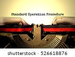 standard operation procedure... | Shutterstock . vector #526618876