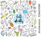 hello doodle set with most... | Shutterstock .eps vector #526624384