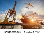 logistics and transportation of ... | Shutterstock . vector #526625740