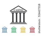 casino icon. casino icons...   Shutterstock .eps vector #526627318