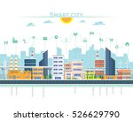 smart city with building and... | Shutterstock .eps vector #526629790