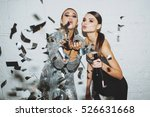 girls in confetti | Shutterstock . vector #526631668
