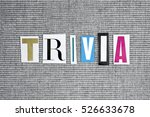 trivia word on grey background | Shutterstock . vector #526633678