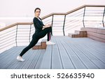 stretching exercise | Shutterstock . vector #526635940