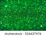 Green Sparkling Glitter Bokeh...