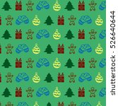 green christmas pattern | Shutterstock . vector #526640644