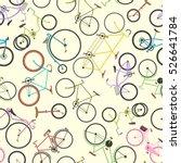 Retro Bike Pattern Vector...