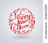 red ribbon of happy new year... | Shutterstock .eps vector #526643284