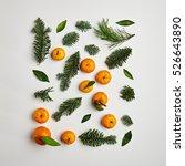 christmas arrangement from... | Shutterstock . vector #526643890