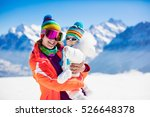 young mother and little baby... | Shutterstock . vector #526648378