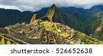 Panorama Of The Incan Citadel...
