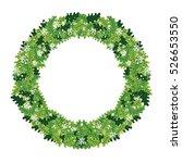 christmas wreath  vector green  ... | Shutterstock .eps vector #526653550