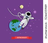 vector illustration of flying... | Shutterstock .eps vector #526655989