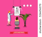 ophthalmology concept vector... | Shutterstock .eps vector #526656370