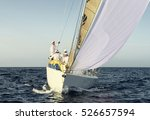 sailing ship yachts with white... | Shutterstock . vector #526657594